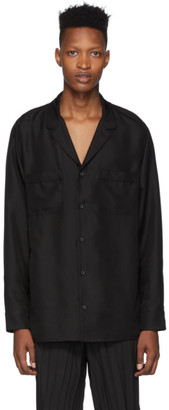 Valentino Black Silk Shirt
