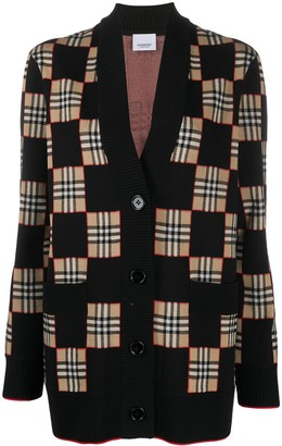 Burberry Vintage Check patchwork cardigan
