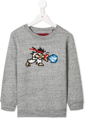Mostly Heard Rarely Seen 8 Bit Tiny White Warrior sweatshirt