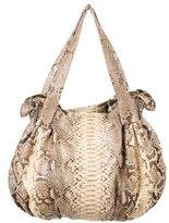 Zagliani Python Shoulder Bag