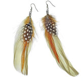 Patterned Feather Earring