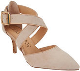 Sole Society As Is Leather Cross-Cross Strap Pumps - Tamra
