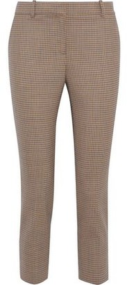 Theory Cropped Checked Wool-blend Slim-leg Pants