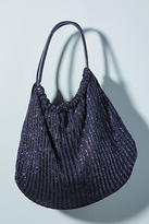 Anthropologie Shimmer-Knit Shoulder Bag