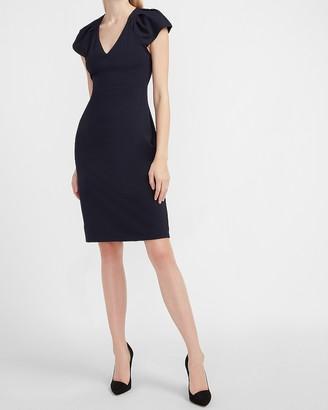 Express Ruched Shoulder Sheath Dress