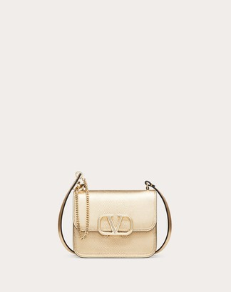 Valentino Small Vsling Metallic Snakeskin Shoulder Bag Women Dark Gold 100% Pelle Di Vitello - Bos Taurus OneSize