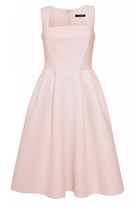 Quiz Nude Stripe Textured Midi Dress