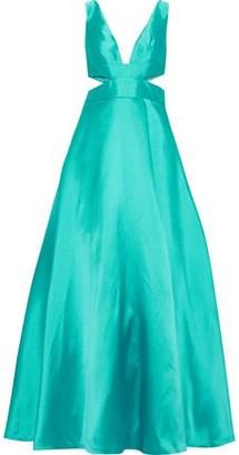 ML Monique Lhuillier Cutout Duchesse-satin Gown