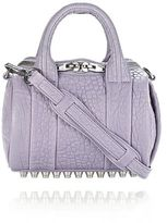 Alexander Wang Mini Rockie In Pebbled Lavender With Rhodium