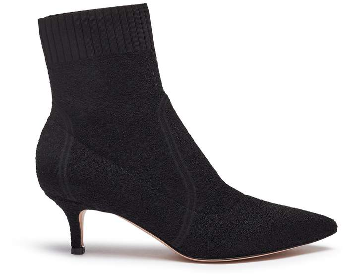 Gianvito Rossi Bouclé knit sock boots