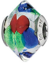 Murano Prerogatives Blue/Green/Red Italian Glass Bead