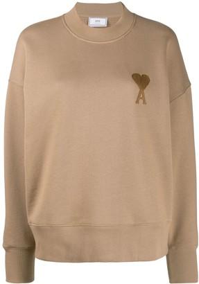 Ami Embroidered Logo Boxy Fit Sweatshirt