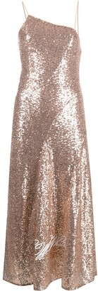 Off-White Paillettes sequined slip dress