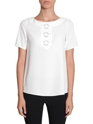 Boutique Moschino Logo Button Detail T-Shirt