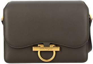 Salvatore Ferragamo Crossbody Bags Classic Joanne Bag In Genuine Leather With Mediterranean Hook