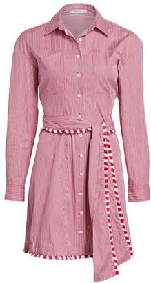 Derek Lam 10 Crosby Iona Belted Stripe A-Line Shirtdress