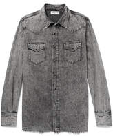 Saint Laurent - Slim-fit Acid-washed Denim Shirt