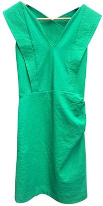 BA&SH Spring Summer 2019 Green Cotton Dresses