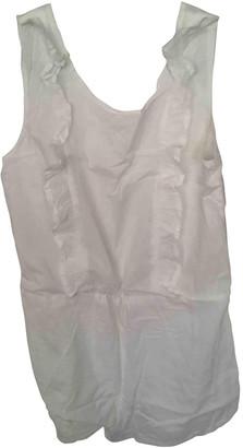 Bel Air White Cotton Jumpsuits