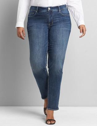 Lane Bryant Seven7 Low-Rise Straight Jean - Medium Wash