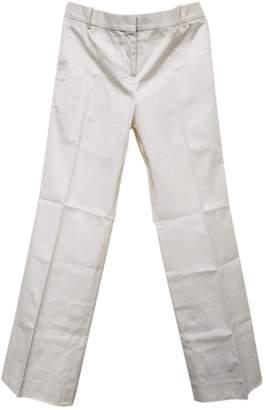 Celine Ecru Cotton Trousers