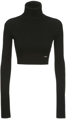 DSQUARED2 Knit Viscose Blend Turtleneck Sweater