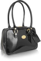 L.a.p.a. Black Italian Patent Leather Shoulder Bag