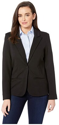NYDJ Ponte Blazer (Black) Women's Jacket