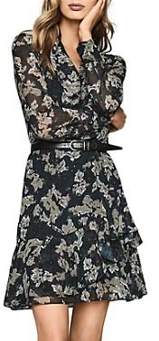 Reiss Marseille Ikat-Printed Dress