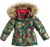 Diesel Lollipop Printed Nylon Long Down Jacket