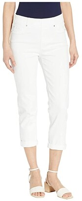 Liverpool Chloe Pull-On Crop Rolled Cuff in Bright White (Bright White) Women's Jeans