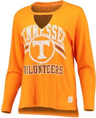 Women's Pressbox Tennessee Orange Tennessee Volunteers Scout Choker Long Sleeve T-Shirt