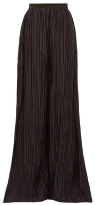 Rodarte Wide-leg Plisse Trousers - Womens - Black