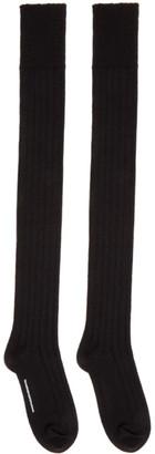 TAKAHIROMIYASHITA TheSoloist. Black Wool High Socks