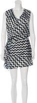 Acne Studios Darling Chevron Print Dress