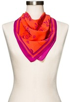 Merona Women's Orange Floral Fashion Scarf