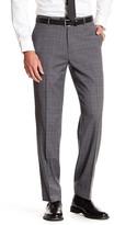 "Tommy Hilfiger Grey Windowpane Plaid Wool Blend Pant - 30-34\"" Inseam"