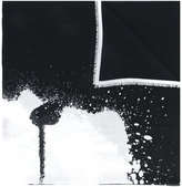 Karl Lagerfeld splatter print scarf