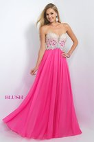 Blush Lingerie Embellished Sweetheart Chiffon A-Line Gown 11097