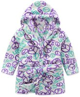 Evebright Kids Girls Soft Hooded Robe Cute Soft Touch Plush Bathrobes Age 4-5
