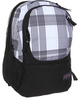JanSport Air Cure Backpack (Black/Goose Grey Reno Plaid) - Bags and Luggage
