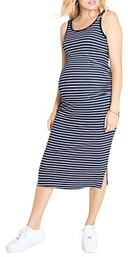 Ingrid & Isabel Ribbed Tank Midi Maternity Dress