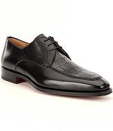 Magnanni Men's Rufino Leather Moc-Toe Dress Oxfords