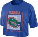 Nike Women's Royal Florida Gators Performance Crew Neck Crop Top T-Shirt
