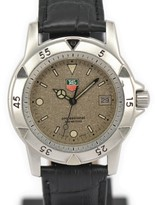 Tag Heuer 959.713G-2 Stainless Steel / Leather with Gray Dial 37mm Mens Watch