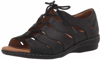 Soul Naturalizer Women's Beatrice Fisherman Sandal Black Lizard 7.5 M US