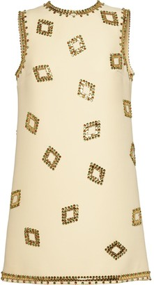 Miu Miu Crystal And Stud-Embellished Dress