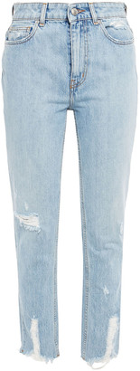 IRO Distressed High-rise Slim-leg Jeans