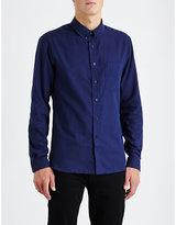Sandro Herringbone Regular-fit Cotton Shirt
