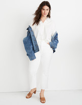Madewell Petite Cali Demi-Boot Jeans in Pure White: Raw-Hem Edition
